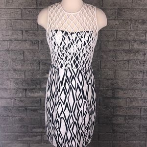 DVF Lenora Navy & White Dress